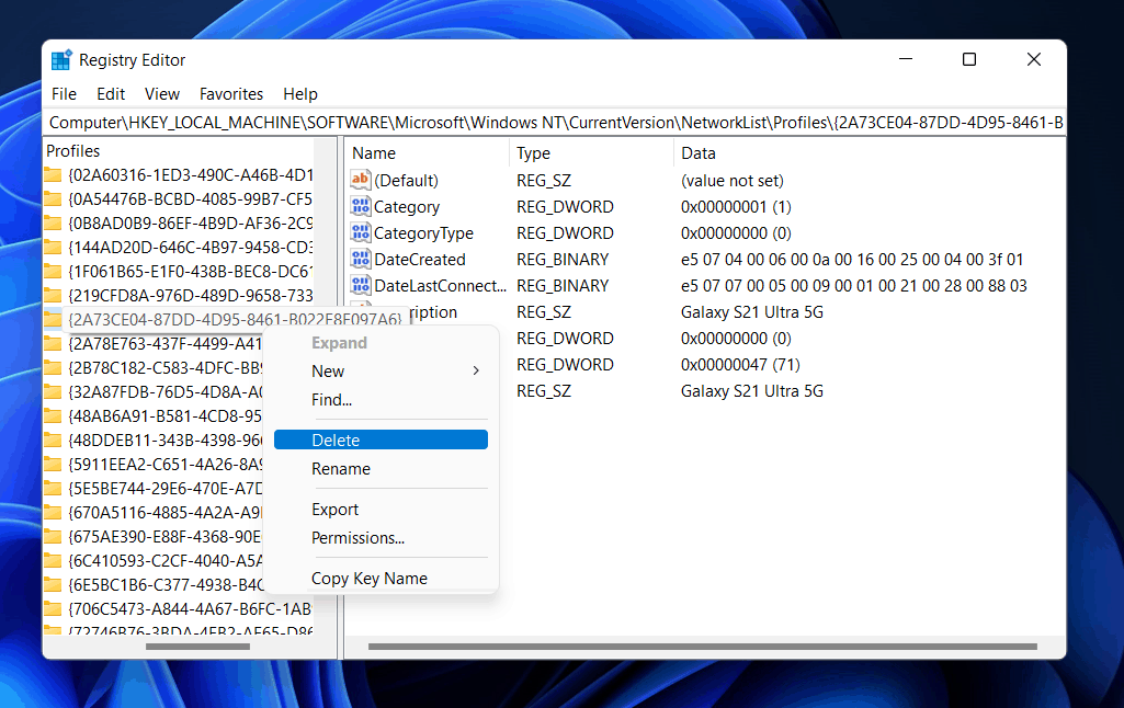 How To Forget A Wi-Fi Network In Windows 11?