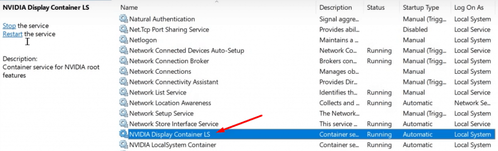 Restart your Nvidia services - 4