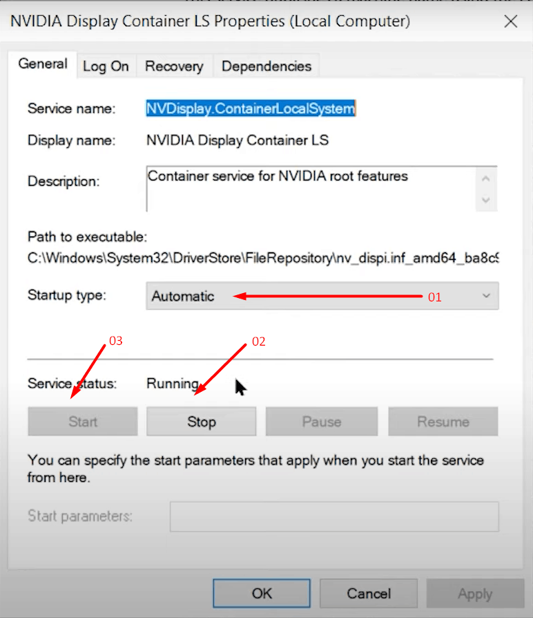 Restart your Nvidia services - 5