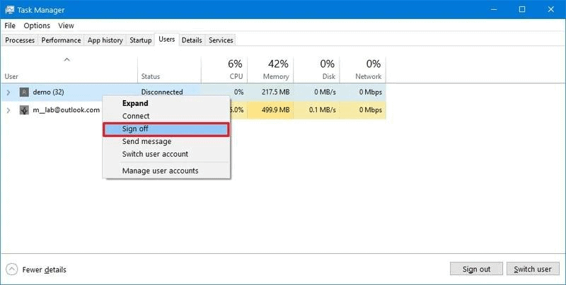 How To Sign Out Other Users On Windows 11?