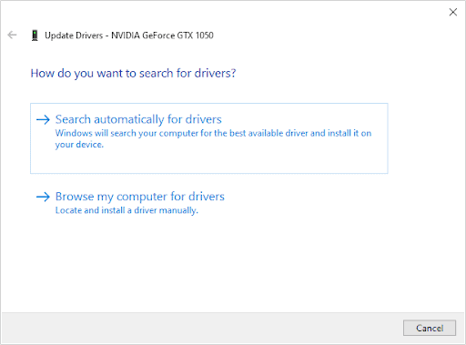 Update display adapter drivers automatically - 5