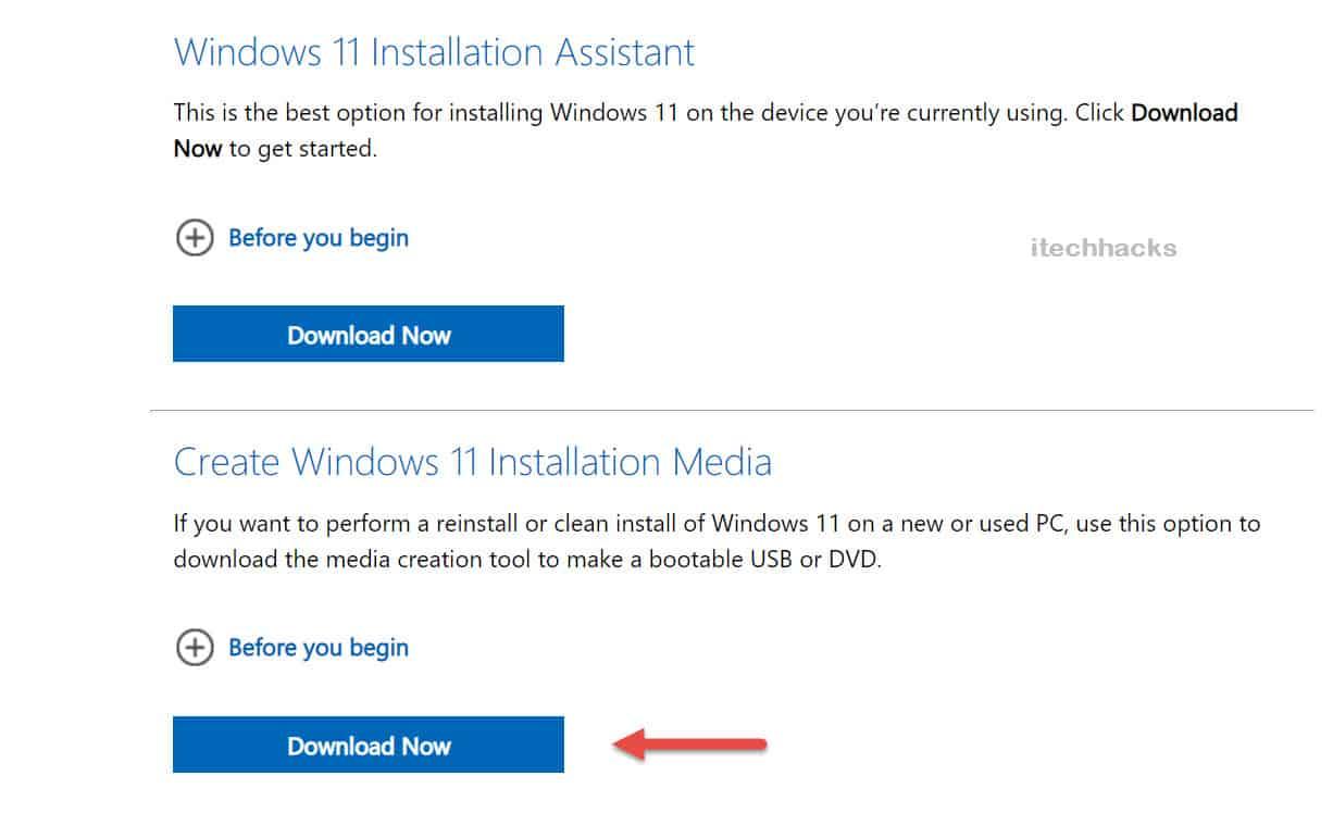Use Windows 11 Media Creation Tool