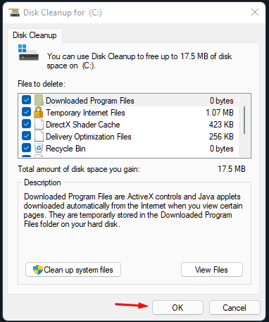 Clear Temporary Files in Windows 11