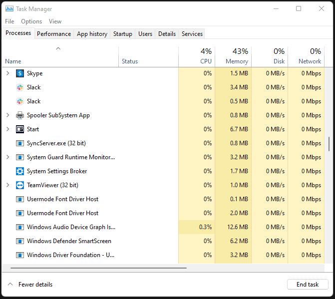 Force Quit a Program on Windows 11